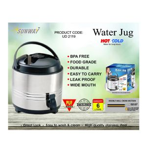 6 LTR S.S WATER COOLER PU INSULATED