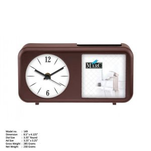 TABLE CLOCK WITH PEN STAND 22020149