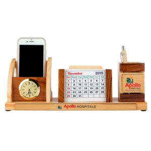 JP27 WOODEN PENSTAND WITH COASTER PLATES