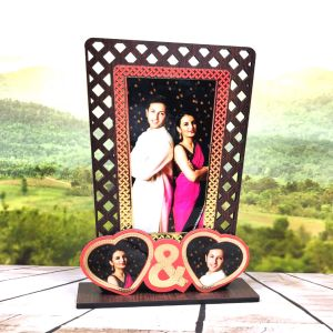 Sublimation Wooden pf with Special Effect Double Heart