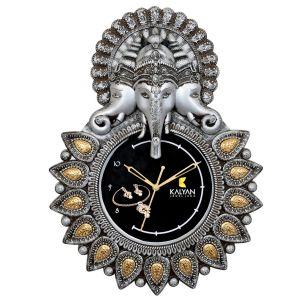 Gajanan WALL CLOCK (SILVER)